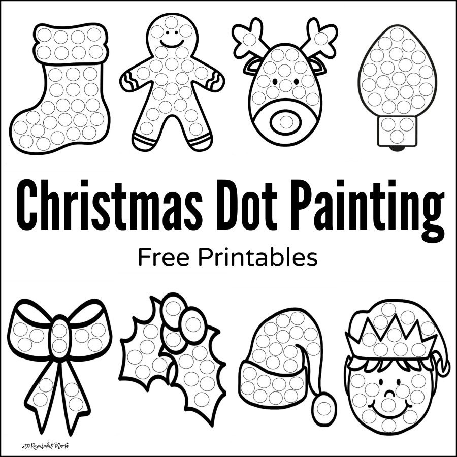 Preschool Christmas Worksheet Printables Christmas Dot Painting Free Printables the Resourceful Mama