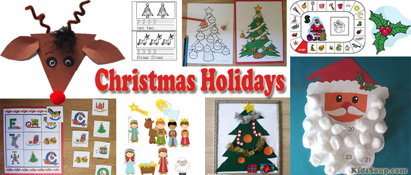 Preschool Christmas Worksheet Printables Christmas Holidays Activities and Lessons