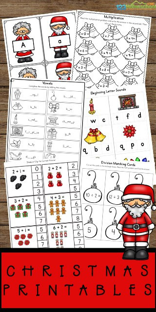 Preschool Christmas Worksheet Printables 🎅🏠Free Christmas Worksheets