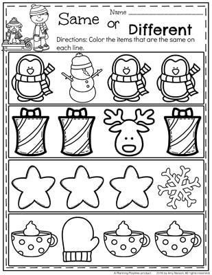 Preschool Christmas Worksheet Printables December Preschool Worksheets Planning Playtime