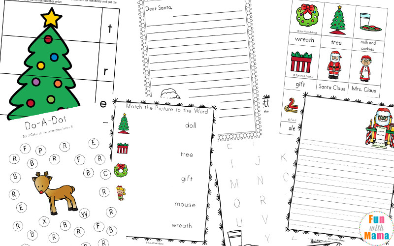 Preschool Christmas Worksheet Printables Free Printable Christmas Worksheets Fun with Mama