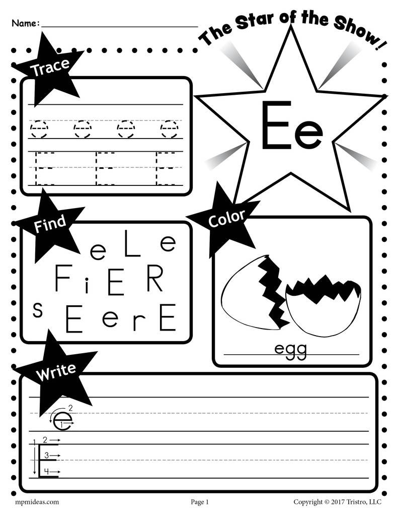 E 20Star 20of 20the 20show 20Letter 20worksheet 1024x1024