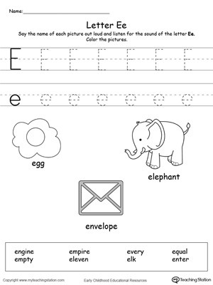 Words Starting With Letter E