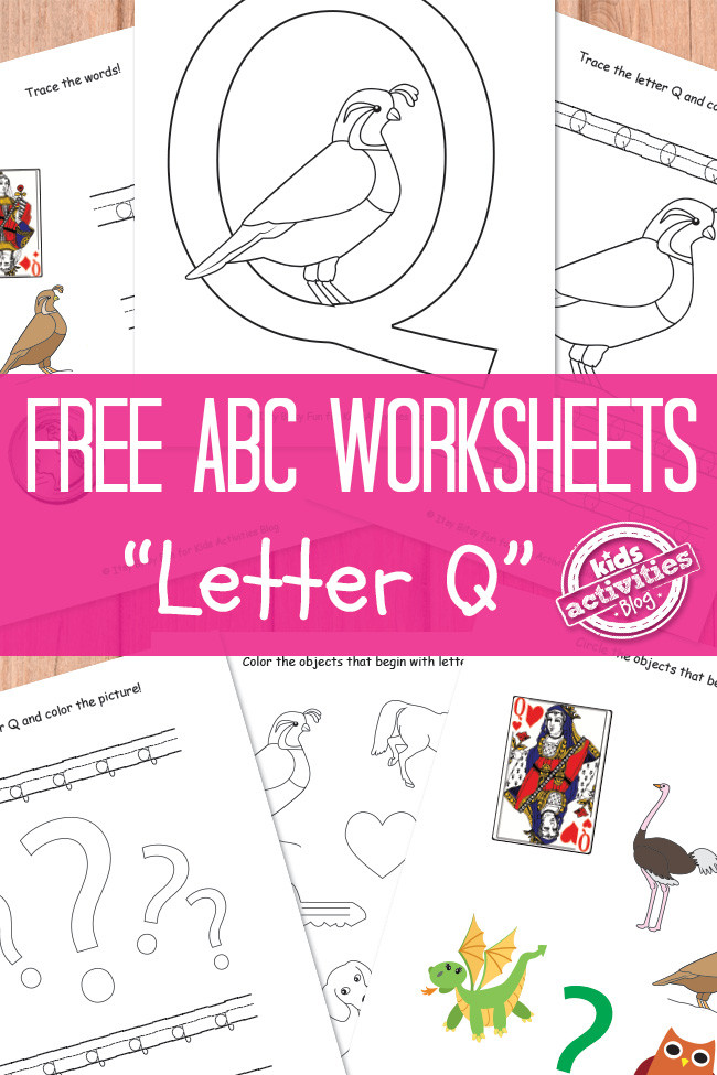 Preschool Letter Q Worksheets Letter Q Worksheets Free Kids Printable