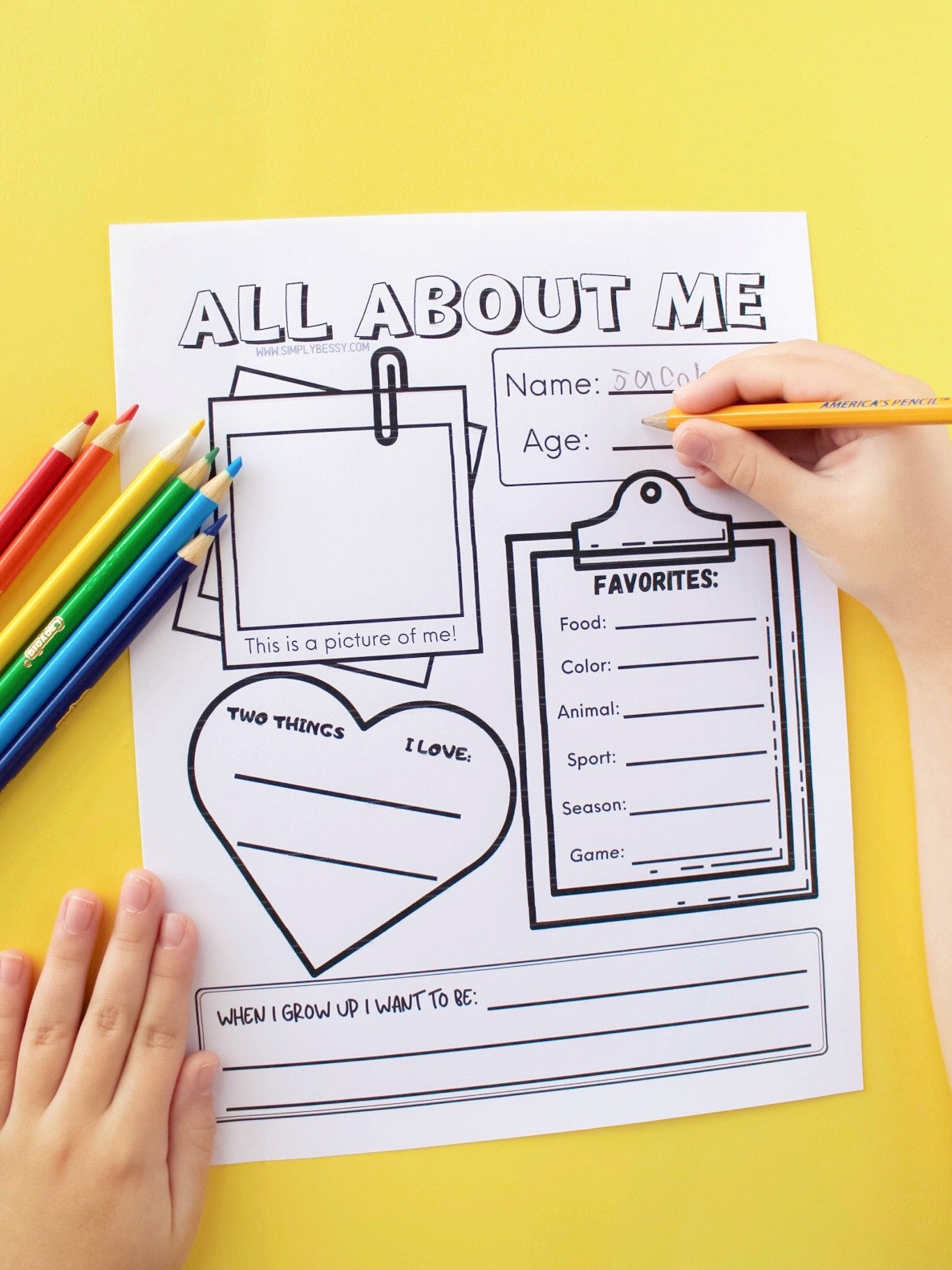 Printable All About Me Worksheet All About Me Worksheet Free Printable