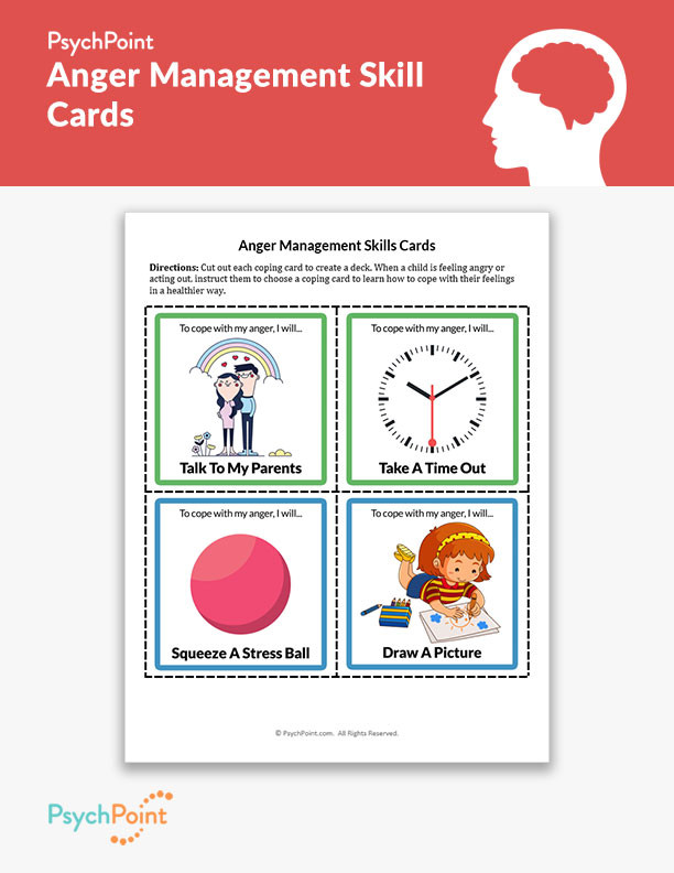 Printable Anger Management Worksheets Anger Management Skill Cards Worksheet