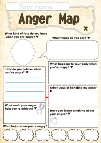 Printable Anger Management Worksheets Free Anger and Feelings Worksheets for Kids