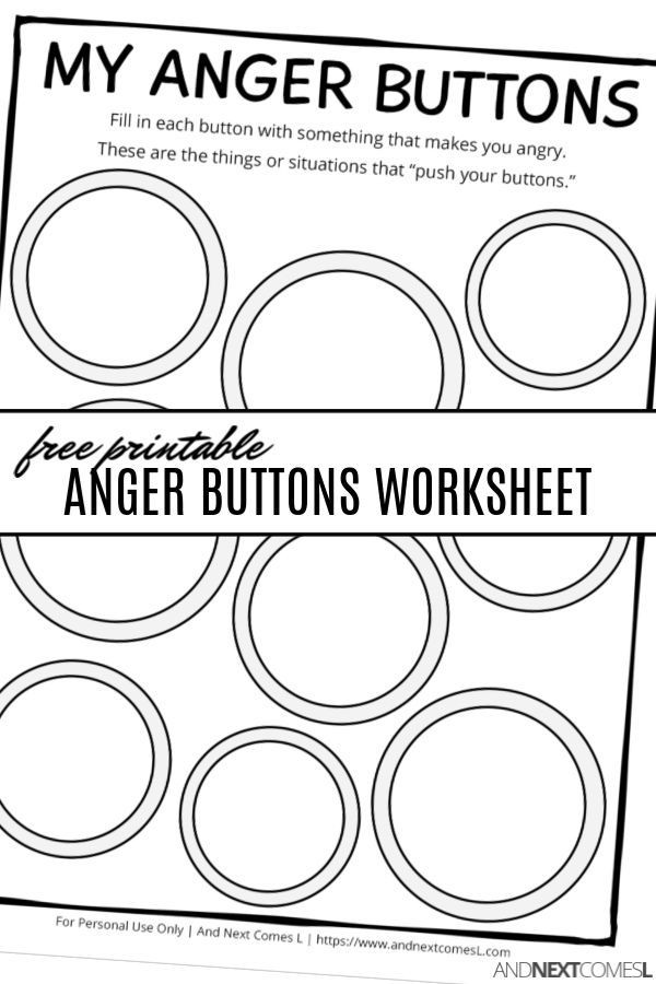 Printable Anger Management Worksheets Free Printable Anger buttons Worksheet A Great Anger
