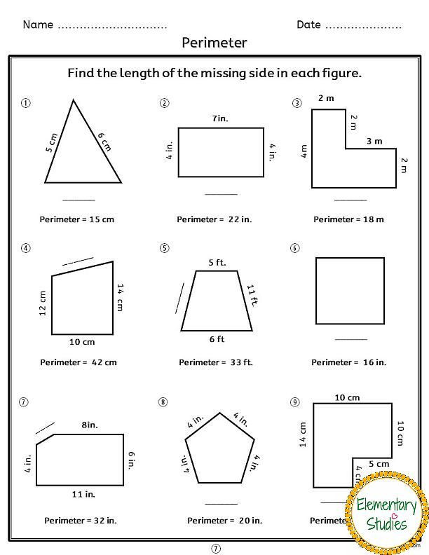 Printable area and Perimeter Worksheets area and Perimeter Worksheets 612—792 Pixels