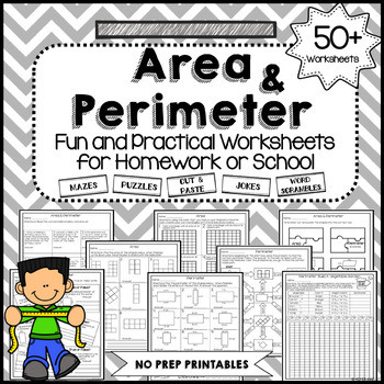 Printable area and Perimeter Worksheets area and Perimeter Worksheets No Prep by Kp Plans