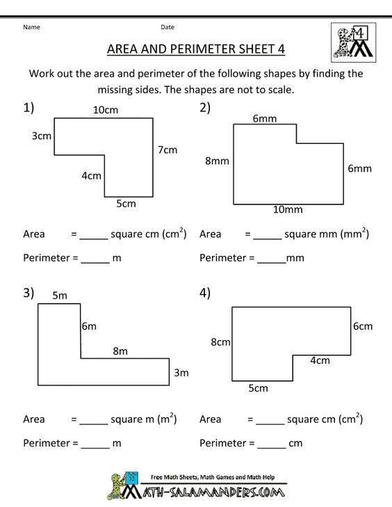 Printable area and Perimeter Worksheets Math Worksheets 4th Grade area Perimeter 4 790—1022