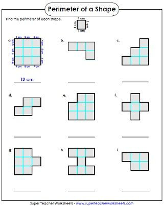 Printable area and Perimeter Worksheets Perimeter Worksheets