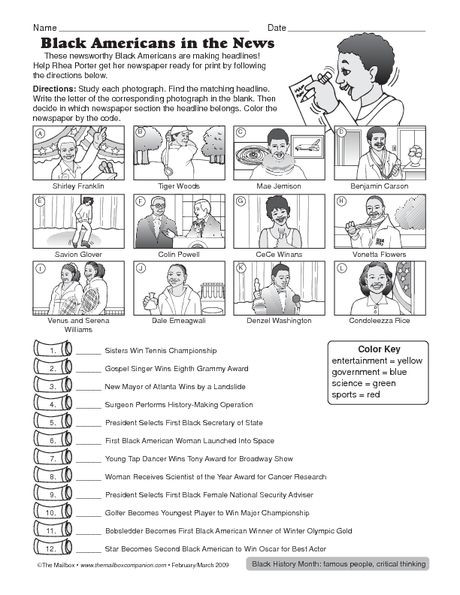 Printable Black History Worksheets Best Mlk In Black History Month Activities Science