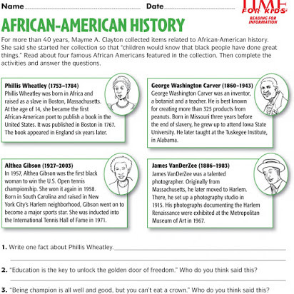 Printable Black History Worksheets Free Printable Black History Worksheets for Kindergarten