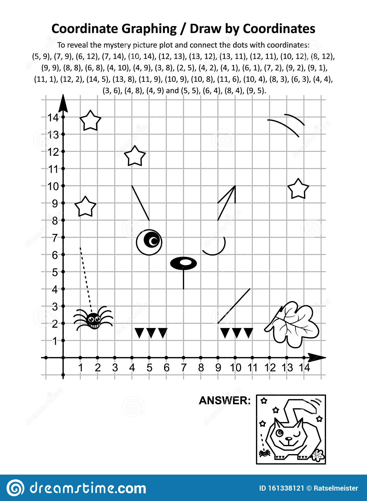 Printable Coordinate Grid Worksheets Coordinate Graphing Draw by Coordinates Math Worksheet