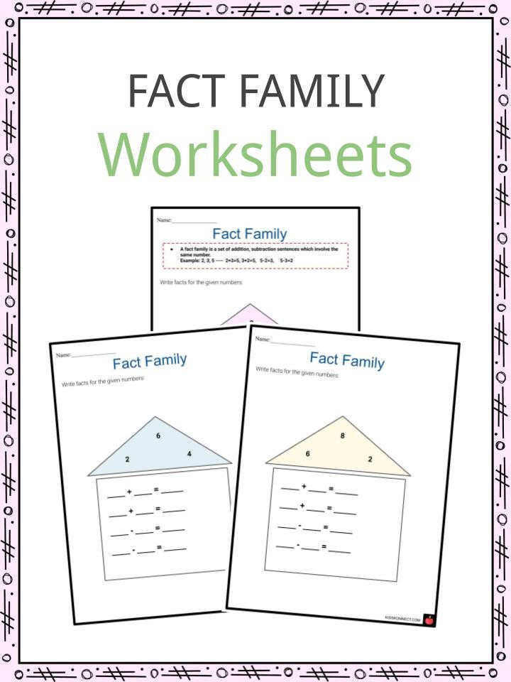 Printable Fact Family Worksheets Fact Family Worksheets