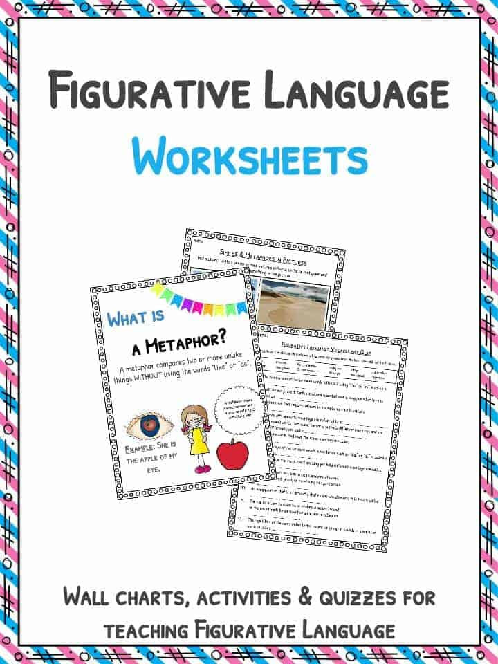 Printable Figurative Language Worksheets Figurative Language Worksheets