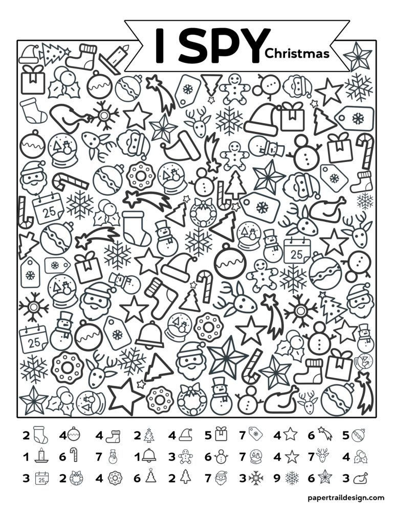 Printable I Spy Worksheets Free Printable I Spy Christmas Activity