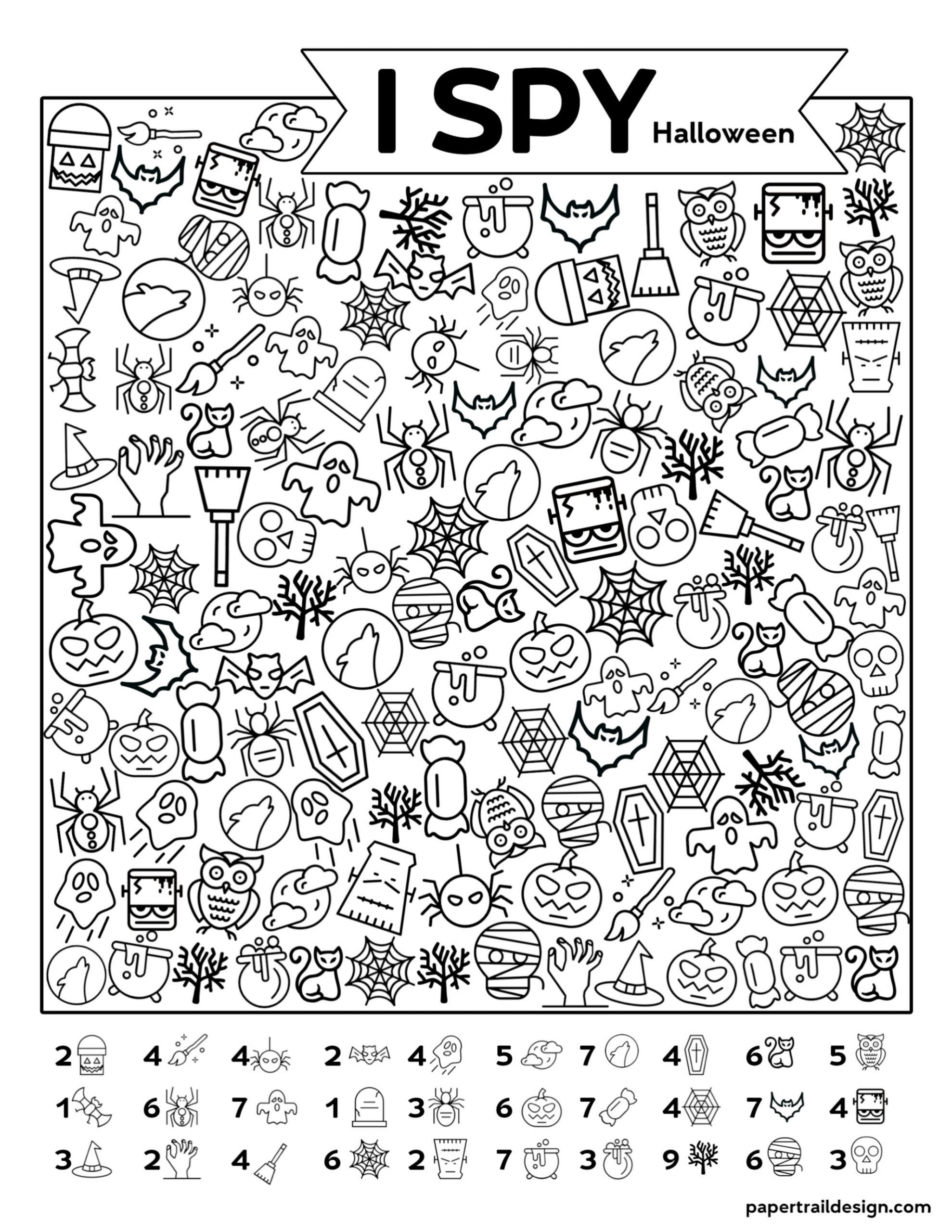 Printable I Spy Worksheets Free Printable I Spy Halloween Activity