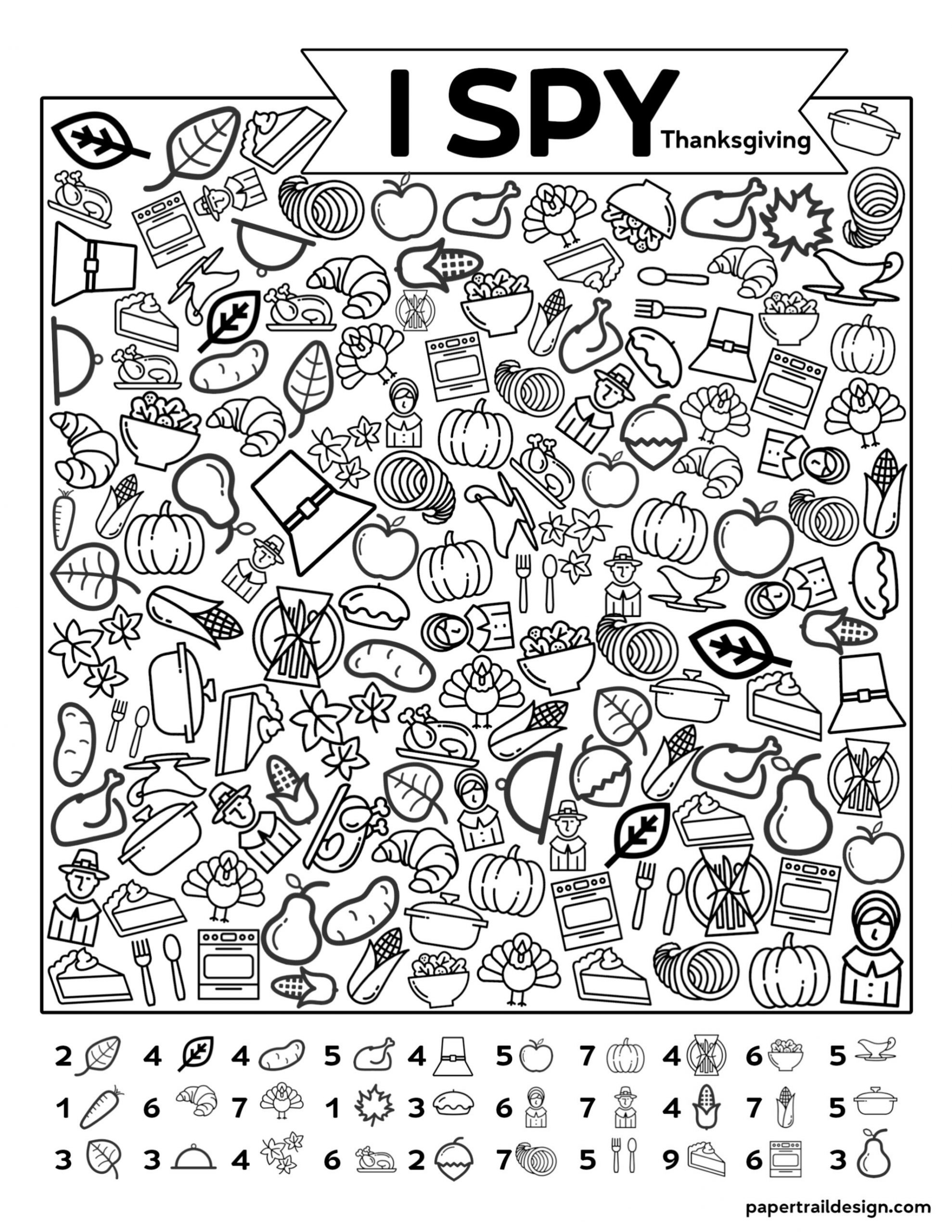 Printable I Spy Worksheets Free Printable I Spy Thanksgiving Activity