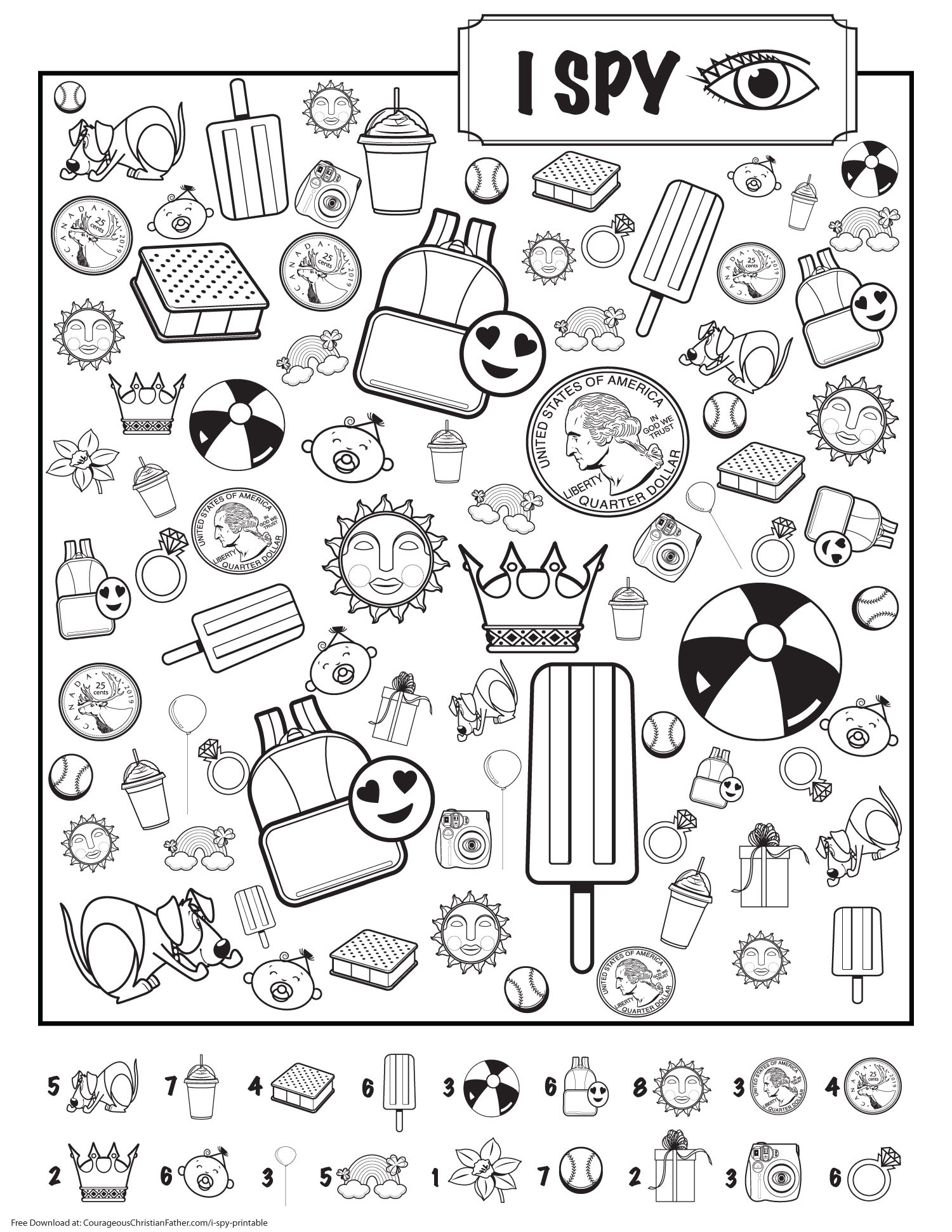 Printable I Spy Worksheets I Spy Printable