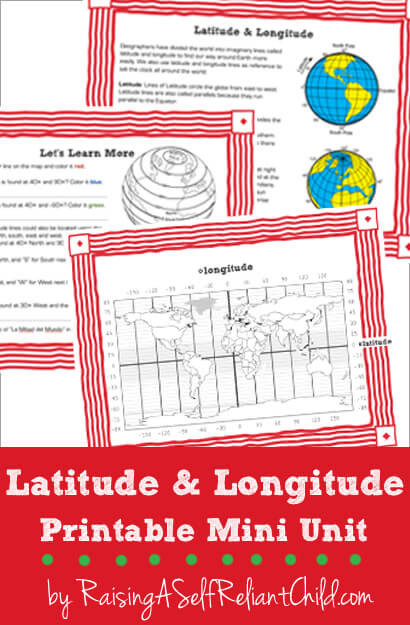 Printable Longitude and Latitude Worksheets Free Printable Mini Unit Latitude and Longitude for Kids