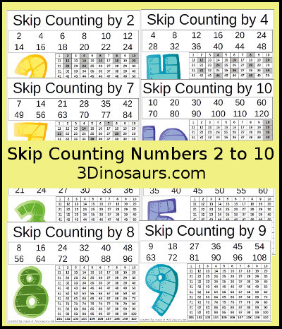 Printable Skip Counting Worksheets 3 Dinosaurs Skip Counting Worksheets Printable