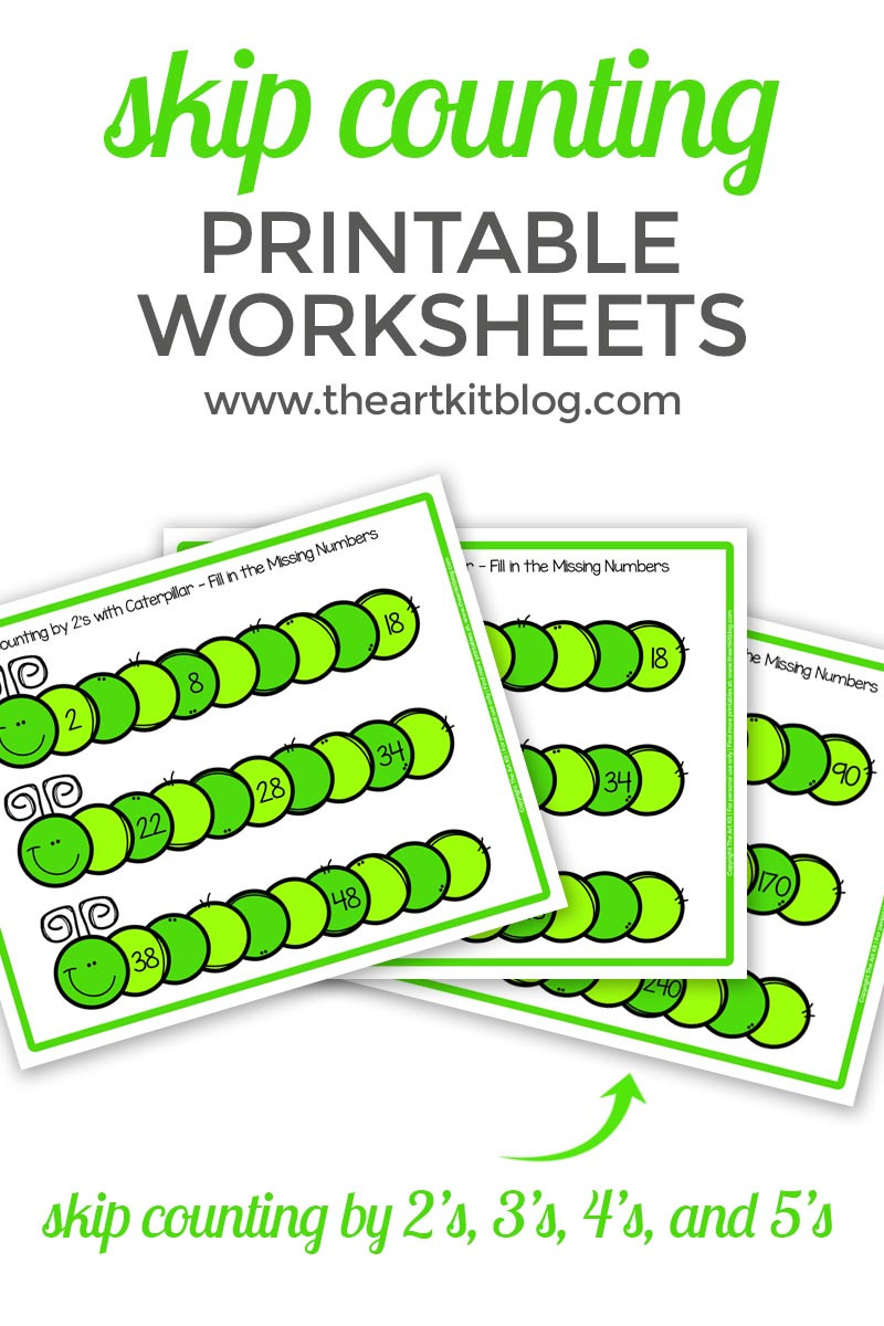 Printable Skip Counting Worksheets Caterpillar Skip Counting Worksheets 2 S 3 S 4 S and 5 S