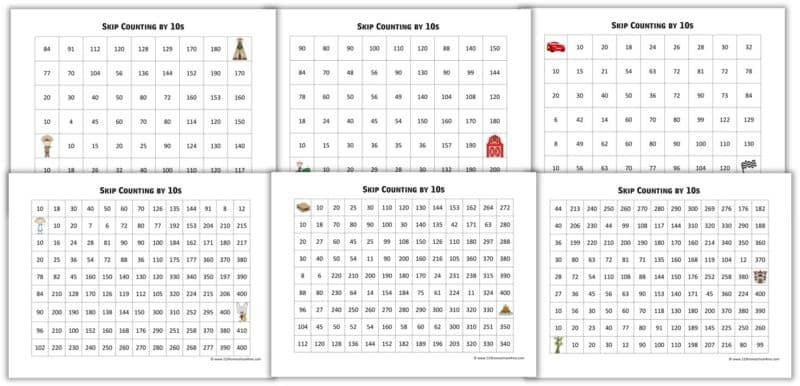 Printable Skip Counting Worksheets Free Skip Counting Mazes 2s 10s