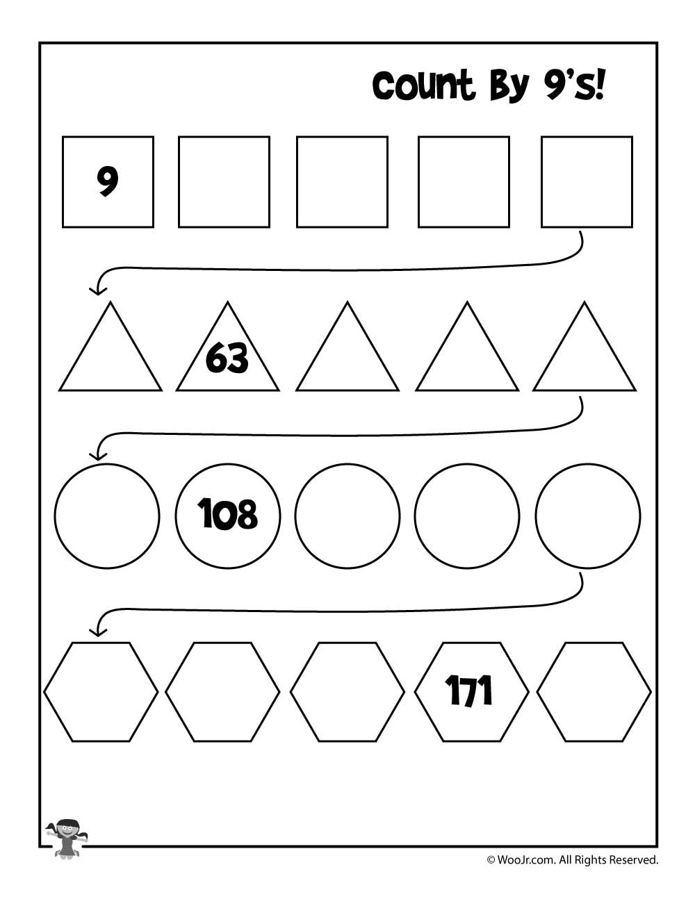 Printable Skip Counting Worksheets Simple Skip Counting Worksheets to Print