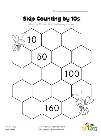 Printable Skip Counting Worksheets Skip Counting by Tens Worksheet