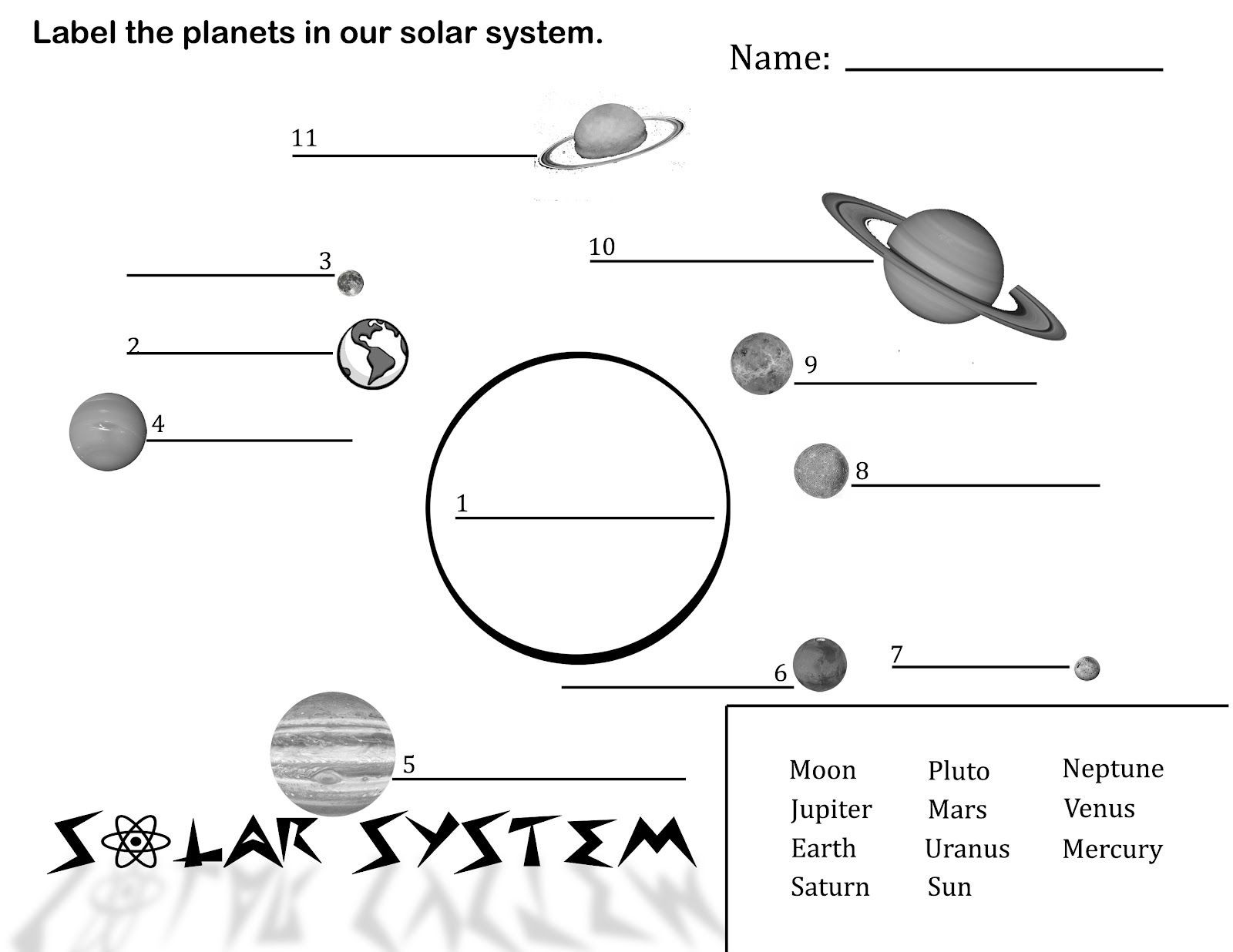 Printable solar System Worksheets Free Printable solar System Coloring Pages for Kids