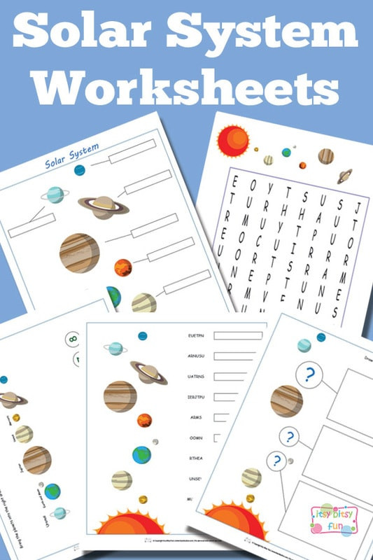 Printable solar System Worksheets solar System Worksheets for Kids Itsybitsyfun