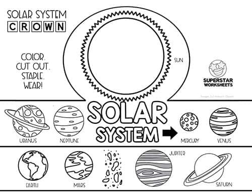 Printable solar System Worksheets solar System Worksheets Superstar Worksheets