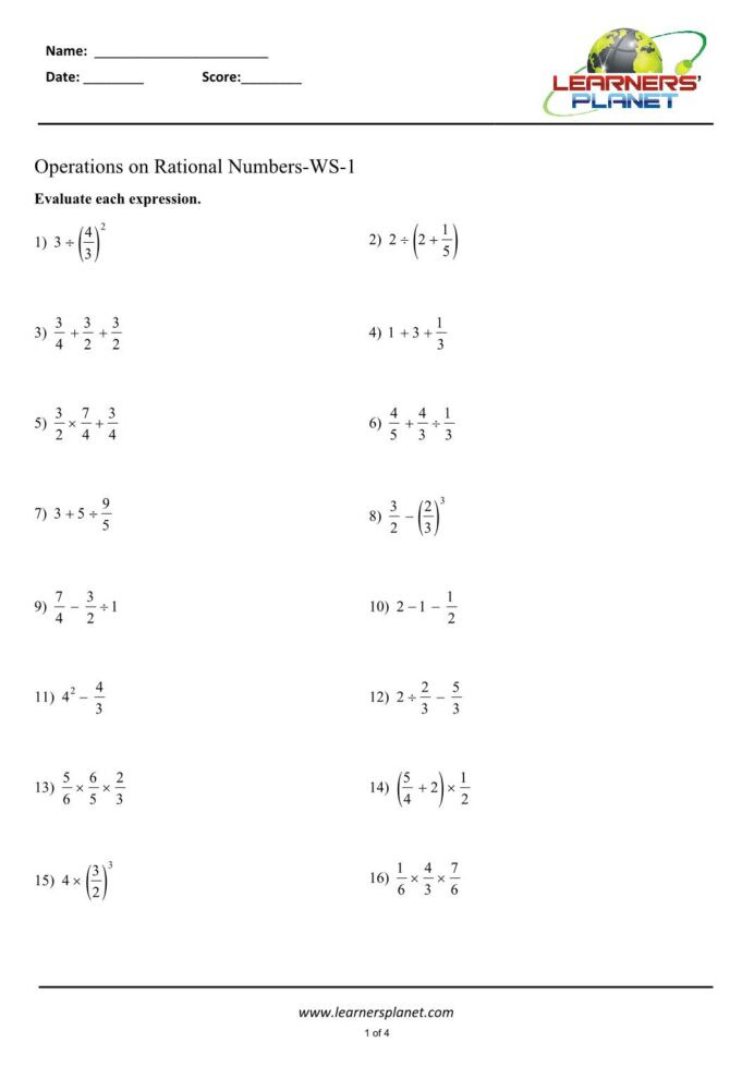 Rational Numbers Worksheet 7th Grade Yearly Archives 2020 Page 43 Grade 7 Math Worksheets