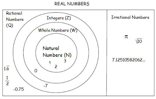 Real Numbers Chart Worksheet Mrs Grieser S Algebra Wiki Wikigrieser Real Number Subsets
