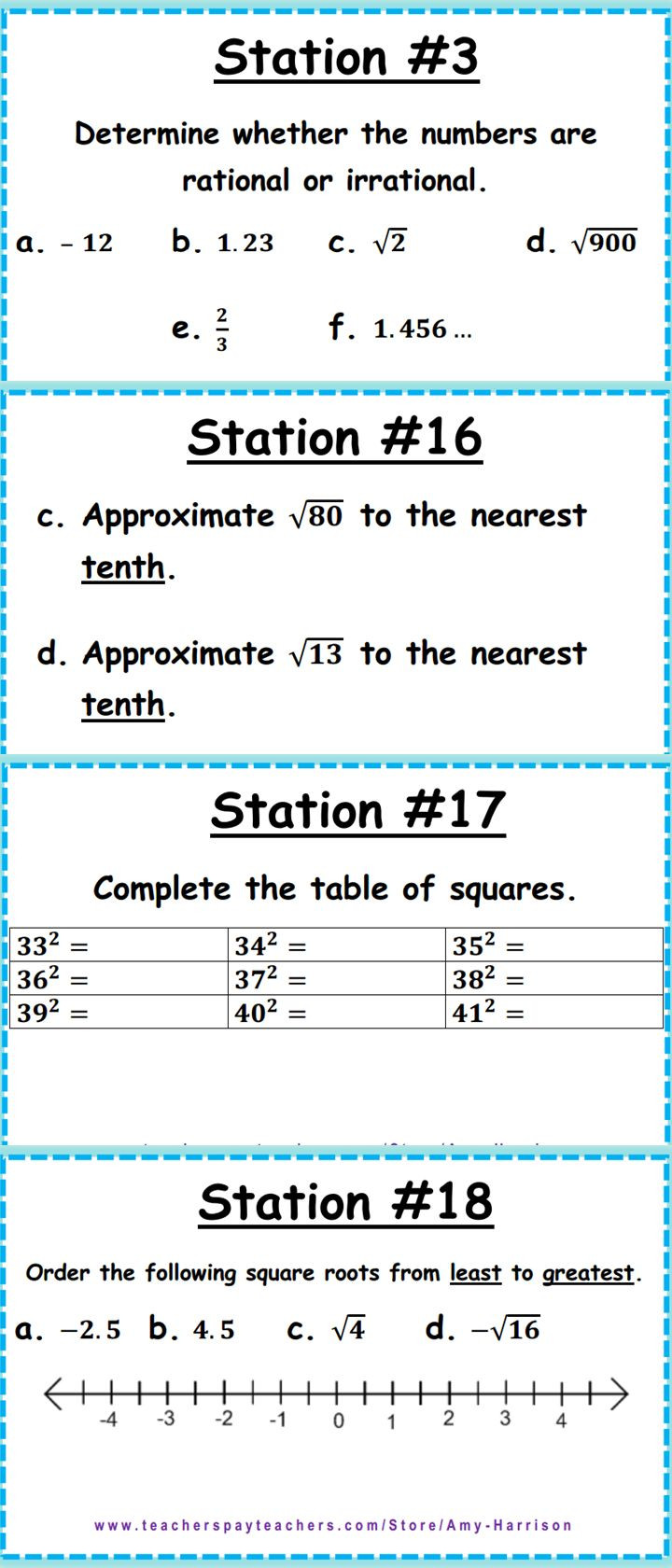 Real Numbers Worksheet with Answers ordering Real Numbers Worksheet