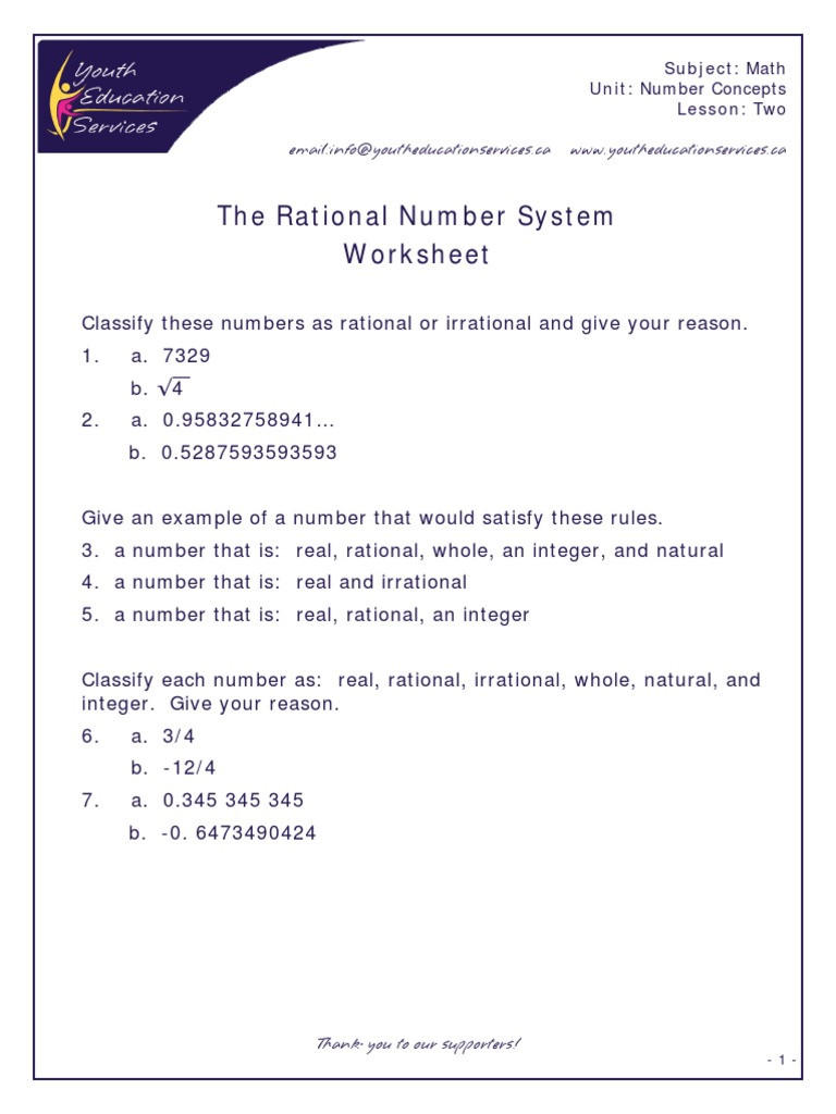 Real Numbers Worksheet with Answers the Real Number System Worksheet Answers Nidecmege