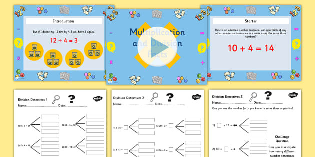Related Multiplication Facts Worksheet Year 3 Deriving Multiplication and Division Facts Differentiated Lesson Teaching Pack