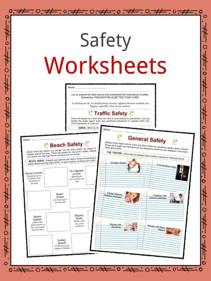 Safety Worksheets Printable Safety Facts Worksheets & General Advice and Information