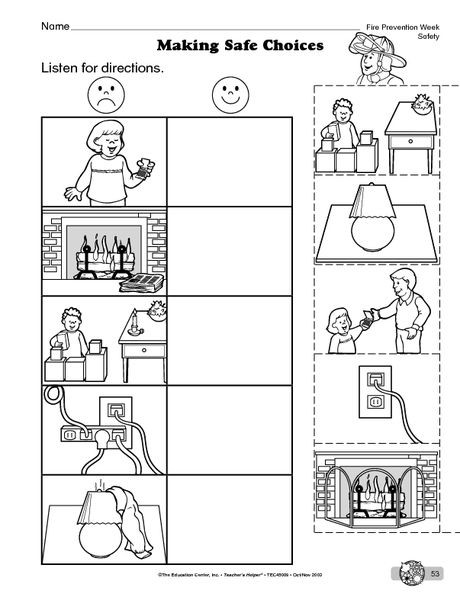 Safety Worksheets Printable Science Worksheet Fire Safety the Mailbox