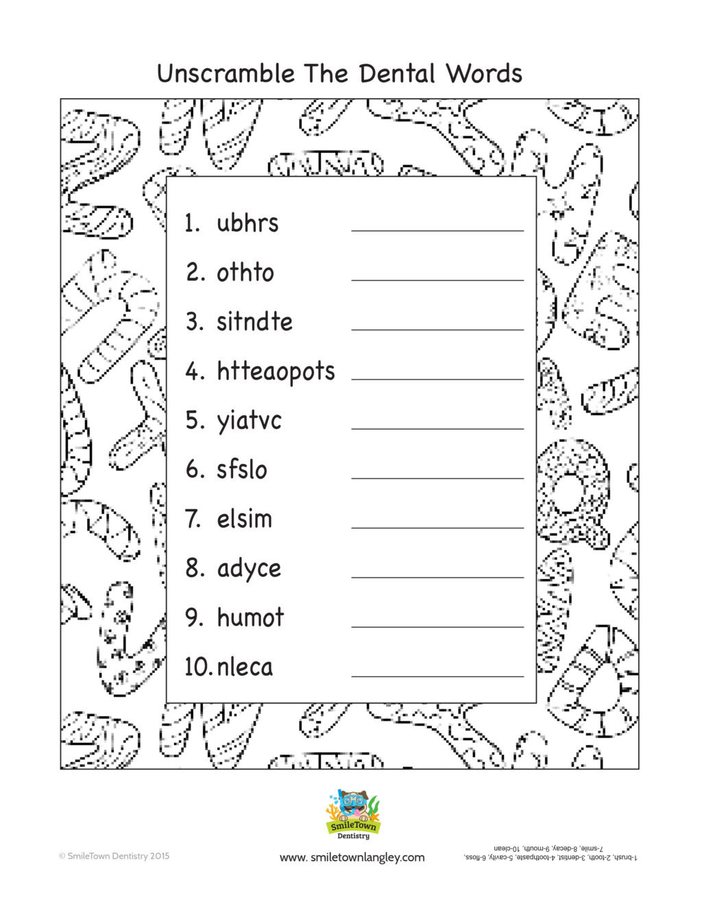 Safety Worksheets Printable Worksheet Smile town Langley Kids Activity Book Free