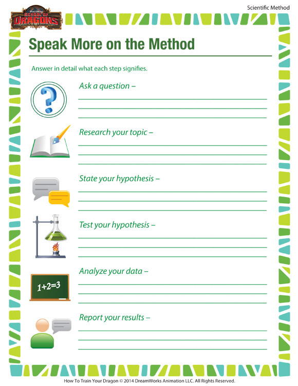 Scientific Method Printable Worksheet Speak More On the Method – Kid Scientific Method Steps – sod
