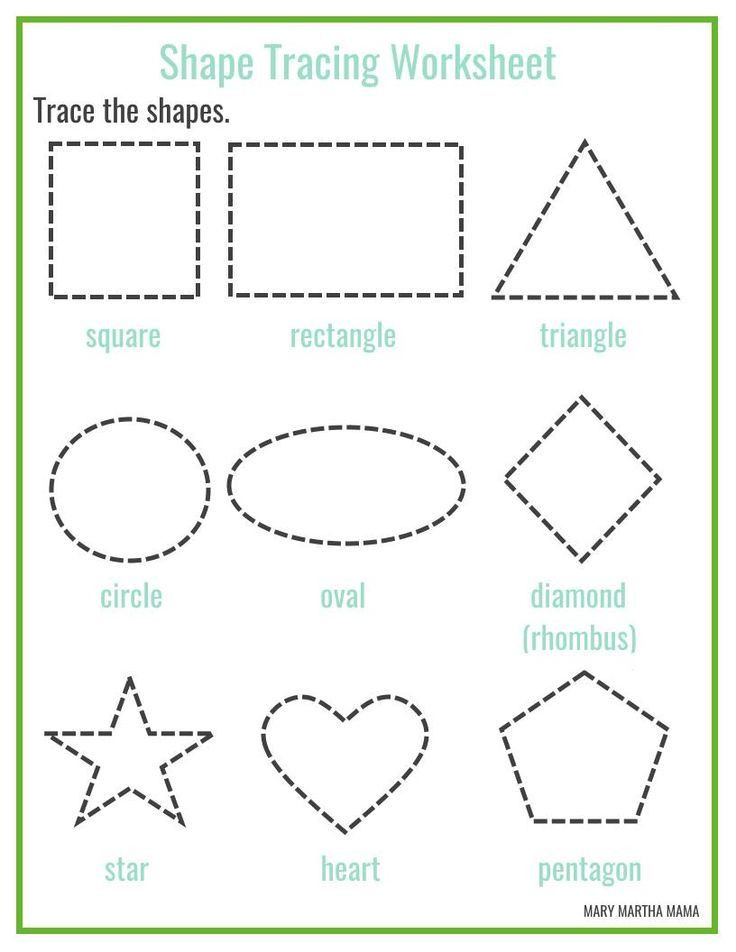 Shape Tracing Worksheets Printable Free Printable Shape Tracing Worksheets