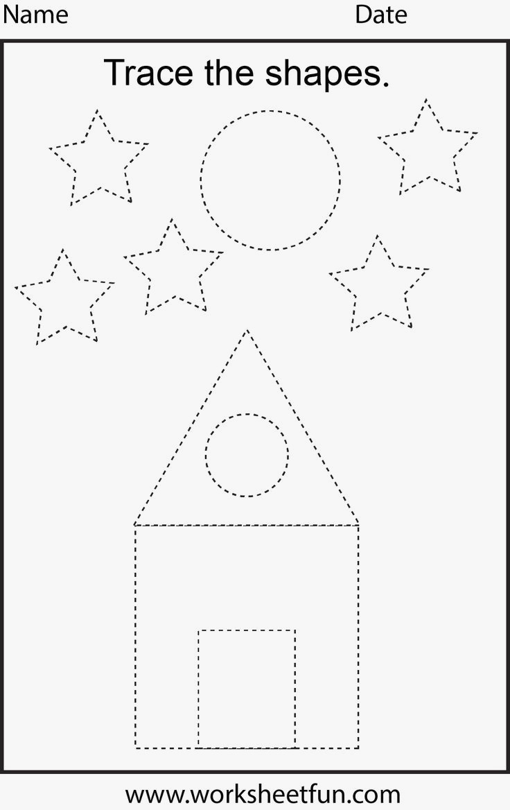 Shape Tracing Worksheets Printable Worksheet Shape Tracing Worksheets for Print Worksheet