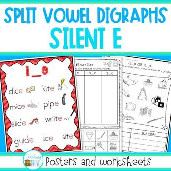 Silent E Worksheets Free Printable Silent E Worksheets and Posters by Teaching Trove