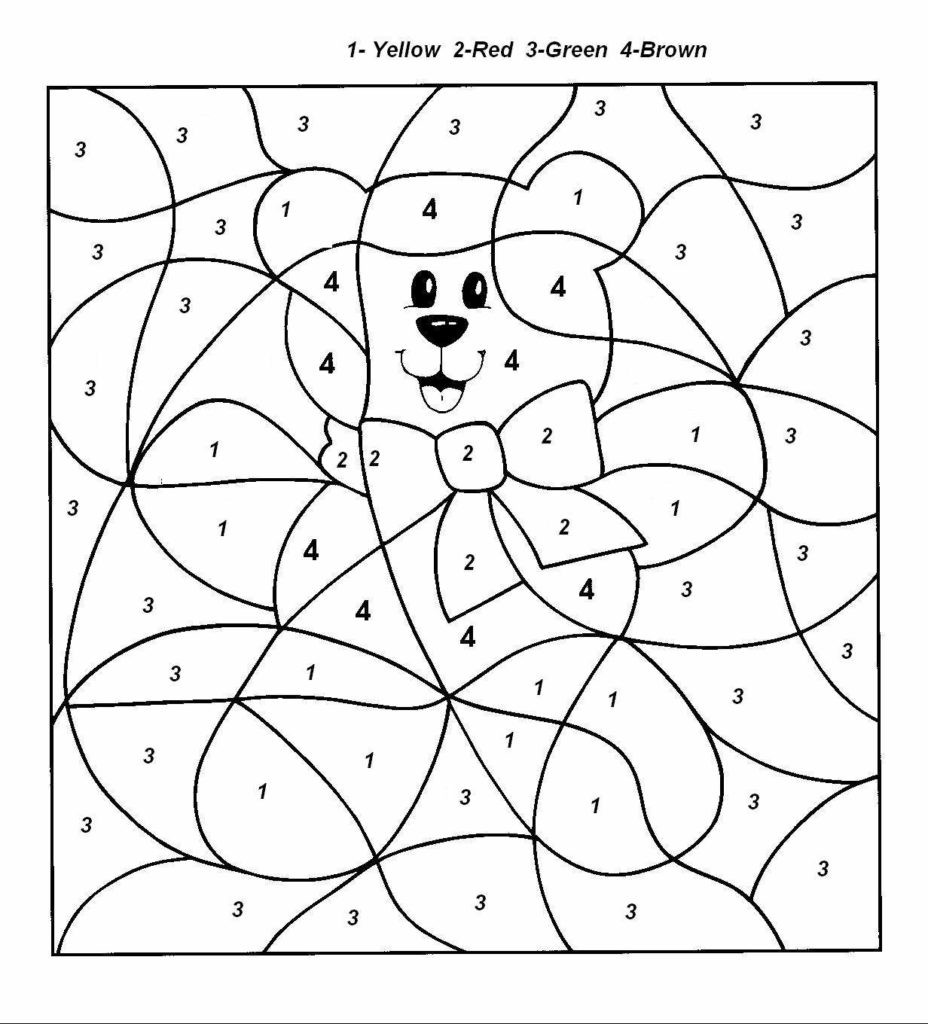 Simple Color by Number Worksheets Easy Color by Number for Preschool and Kindergarten
