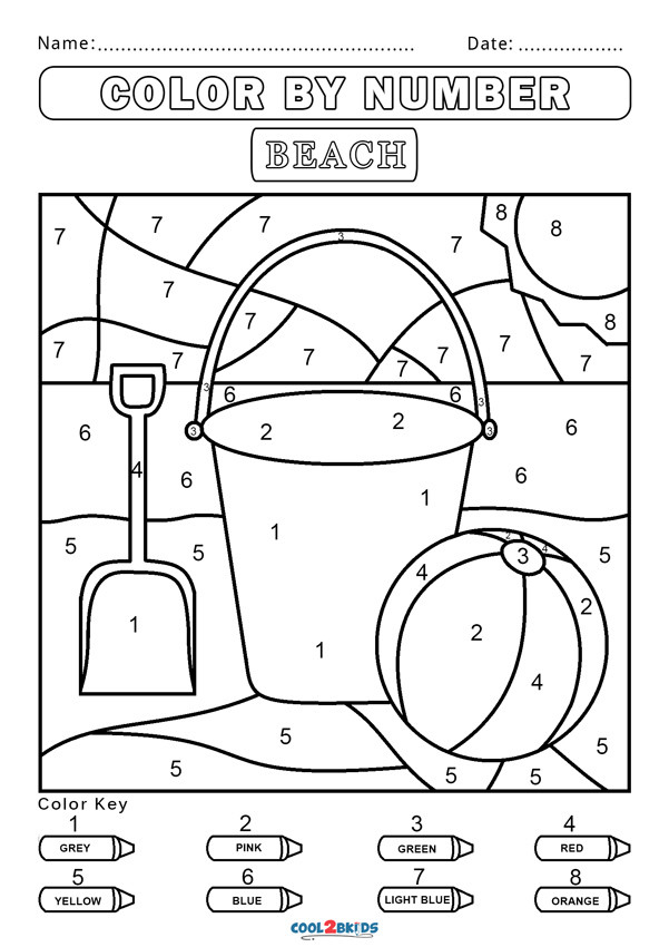 Simple Color by Number Worksheets Free Color by Number Worksheets