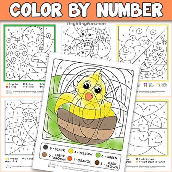 Simple Color by Number Worksheets Free Printable Color by Number Worksheets Itsybitsyfun