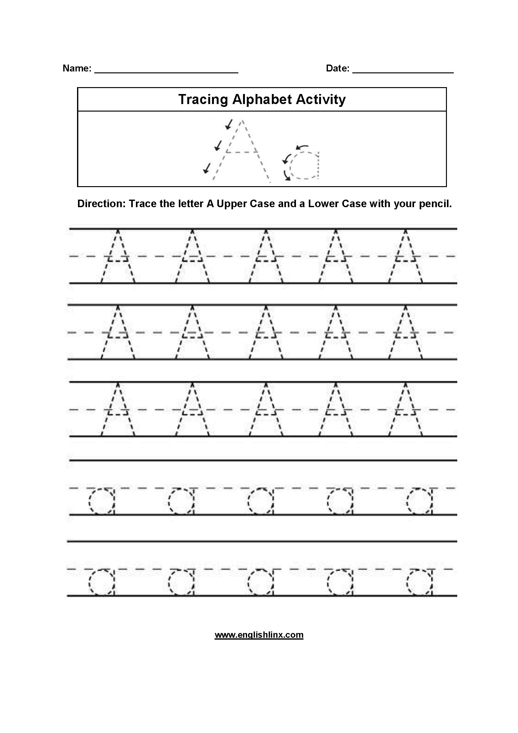 free tracing letters worksheet printable worksheets and with regard to trace letter a worksheets free